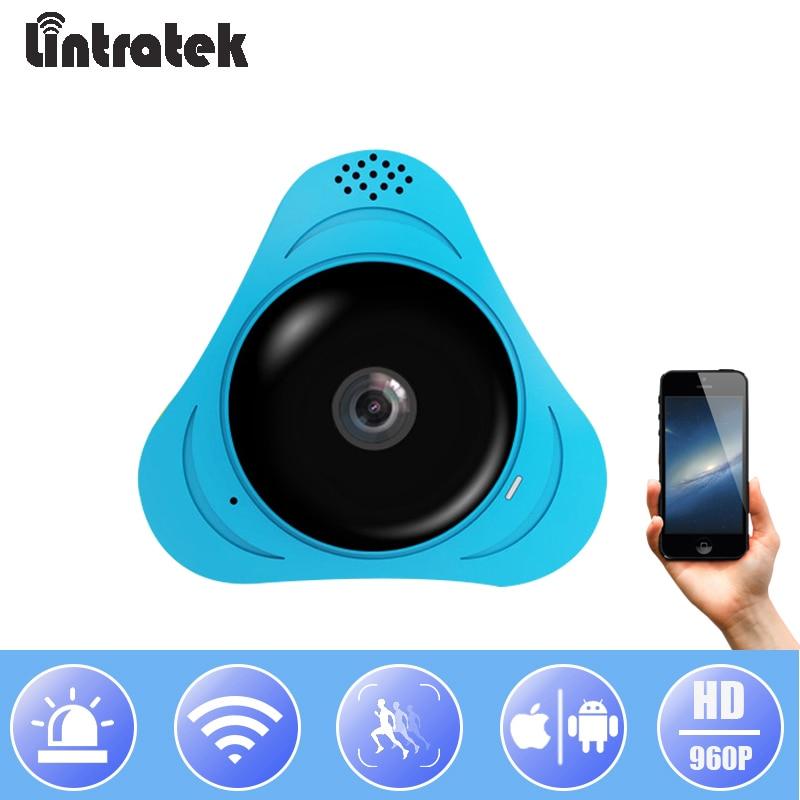 Lintratek Wireless HD 960P Panoramic Camera Home WiFi Security CCTV Camera Mini 360 Degree Surveillance IP Fisheye Camera IPcam цена