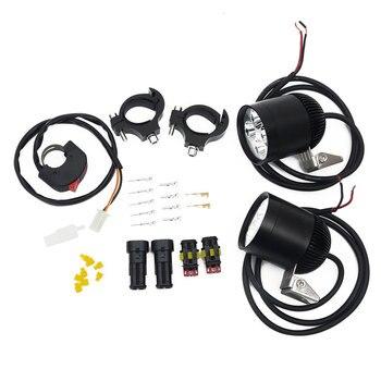 LDDCZENGHUITEC A pair 4*U2 Cree chip 30W 3000lumens waterproof motorcycle led light remote controls