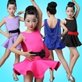 Girl Child Children Dance Dress For Girls Cha-Cha Samba Kid Latin Dress Kid Dancing Clothing Girl Dancewear Kid Latin Costume