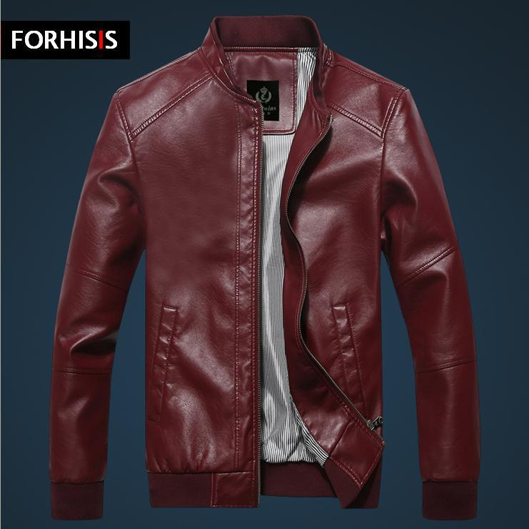 New 2014 Brand Fashion Classic Men's PU Leather Jacket Winter Men ...