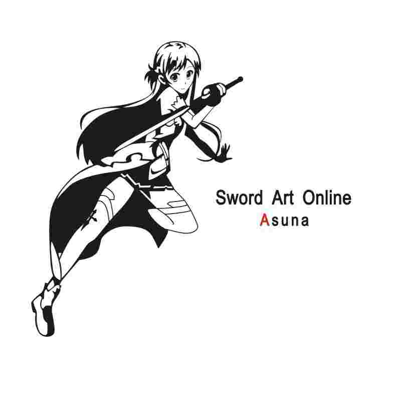 Obliging Pegatina Sword Art Online Sticker Anime Cartoon Asuna Car Decal Sticker Vinyl Wall Stickers Decor Home Decoration Relieving Rheumatism Home & Garden Wall Stickers
