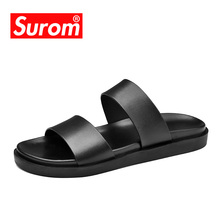 SUROM Sommar Cool Mens Casual Shoes Mode Stil Outdoor Beach Slippers Roma Fritid Andas Clip Toe Sandaler