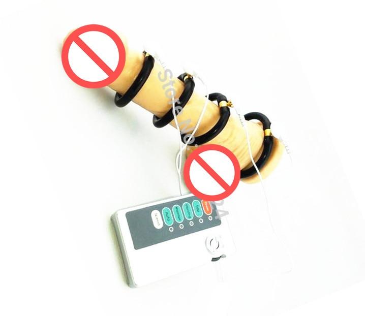 Buy Adult Games Electro Shock Penis Rings Penis Electric Penis Enhancer Rings Penis Delay Rings Sex Toys Him