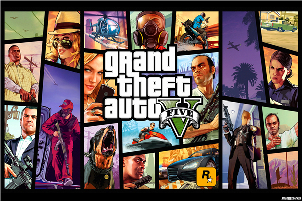 Custom Canvas Art Grand Theft Auto Poster GTA 5 San Andreas Game Wallpaper Grand Theft Wall Stickers Mural Home Decoration #774#