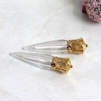 10 20 30 50pcs Empty Clear Handmade DIY Lip Gloss Tube Radish Golden Lid Cosmetic Oil