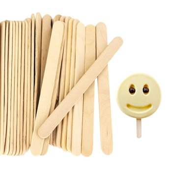 50Pcs/Lot Craft Ice Cream Sticks 6.5CM Natural Wood 1