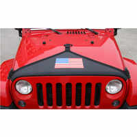 Car Canvas Front Hood End Bra Cover Protector Kit Black For Jeep Wrangler 2007-2017 Car-styling Exterior Accessories