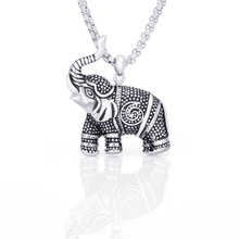 Hiphop Animal Necklace Elephant Necklaces Chain Accessories Gift For Woman/Man Fashion Jewelry все цены