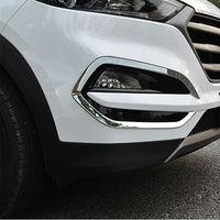 For Hyundai Tucson 2016 2017 SUV Chrome Front Fog Light Lamp Surround Cover Trim