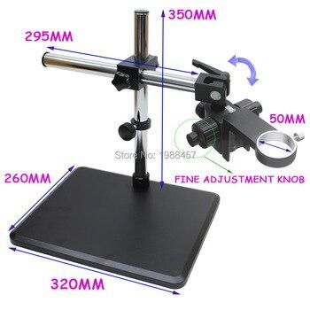 Industrial Microscope Camera Lens Focusing Ring Holder 50mm Fine Adjustment Bracket 360 Degree Free Rotation Adjustment Angle
