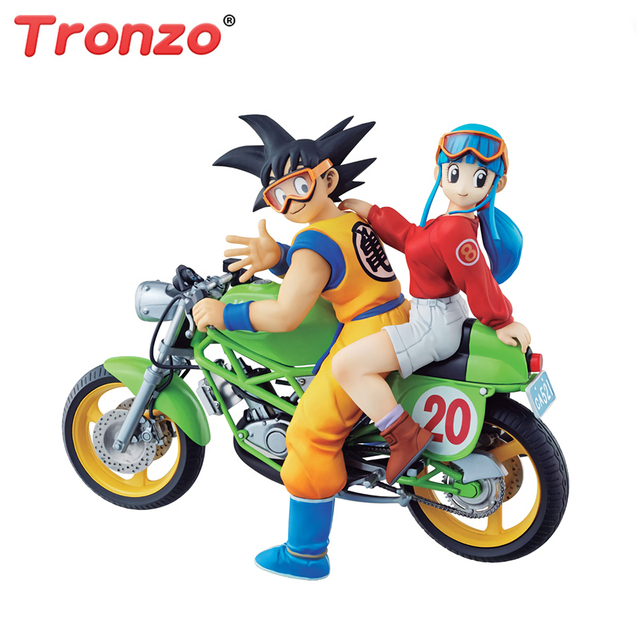 Tronzo Original Bandai Dragon Ball Z Goku Chichi Desktop Real McCOY DBZ Figuras PVC Brinquedos Action Figure Modelo MH presentes
