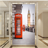 3D Photo Wall Murals Wallpaper European Street Buildings Phone Booth Living Room Entrance Bathroom Home Decorative Wall papers