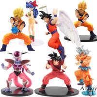 Dragon Ball Z estatuilla Vegeta troncos Goku Gohan celular freezer Lunchi esfera de acción juguete coleccionable 11-21 cm