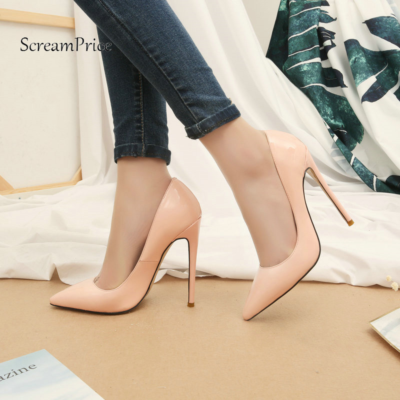 Sexy Thin High Heel Pointed Toe Woman Lazy Genuine Leather Pumps Fashion Shallow Party Shoes Woman Black Pink Nude блуза pink woman pink woman pi026ewamef4
