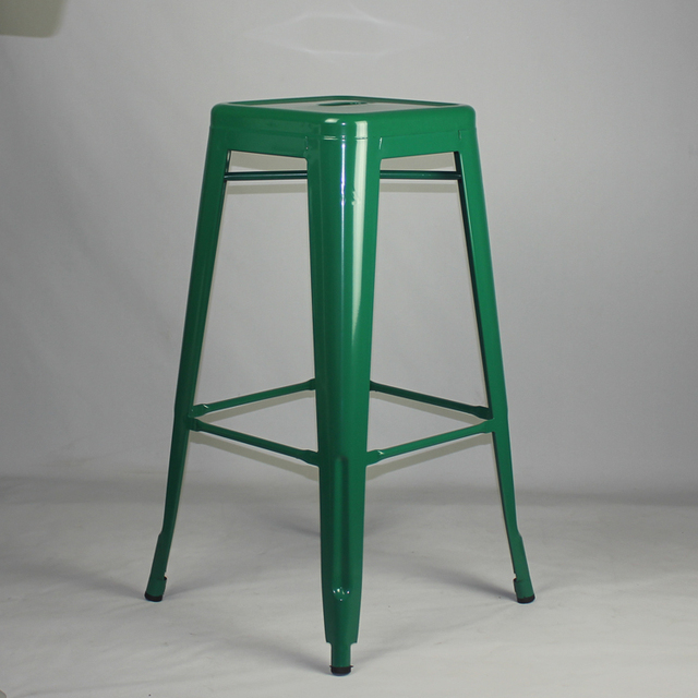 Free Shipping 75cm Powder Coated Stool with Green Colour Finish