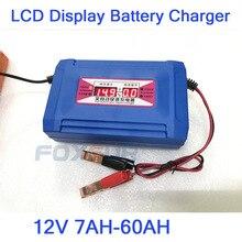 Bateria de Chumbo Ácido 12 V 7AH-60AH/GEL Car Display LCD Carregador de Bateria EUA Plug UE Bateria Inteligente Rápido carregador