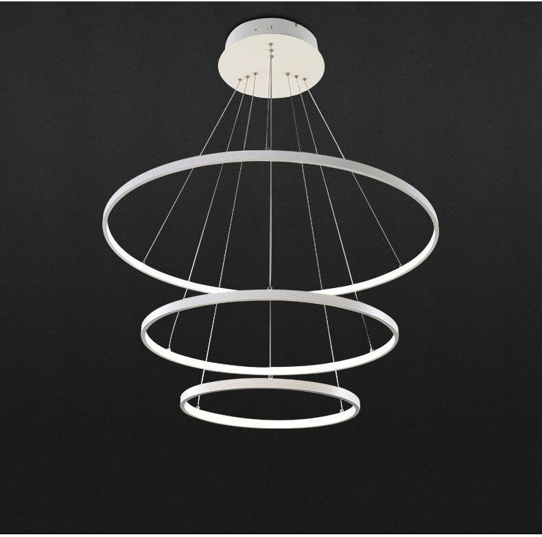 US $44.24 38% OFF Einfache ring hängen lampe moderne esszimmer restaurant  büro hängelampe illuminazione pendente glanz infantil de quarto deco-in ...