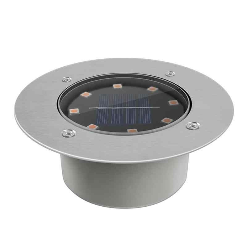 8LED güneş IP65 yeraltı su geçirmez açık alan aydınlatması bahçe yolu gömülü lamba yolu Spot gömme Inground peyzaj aydınlatma