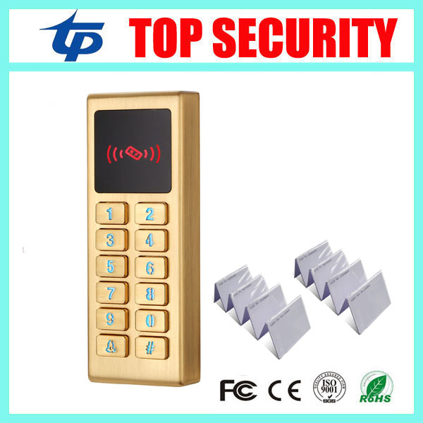 125KHZ smart card access control door reader metal house waterproof surface RFID card access controller standalone single access