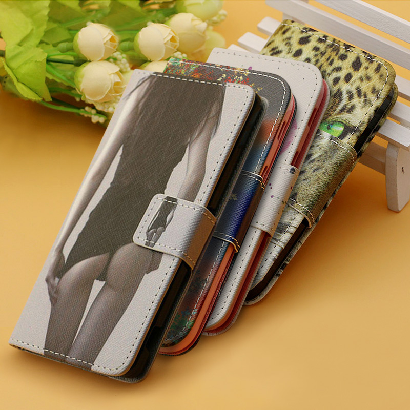 Luxury Flip Leather Cover Case For SONY Xperia M4 Aqua Mobile