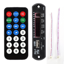 Black Remote SD MP3 Player ZTV-M011 Remote Controller Module FM USB 2.0 3.5mm Hot Sale