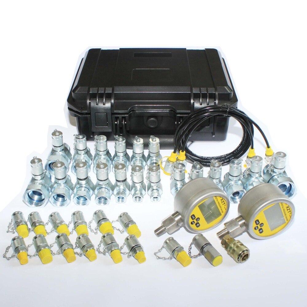 XZTK 70UDショベル油圧圧力テスターキット、ショベル修復ツールキット、油圧テストホース、圧力ゲージ  グループ上の ツール からの 楽器パーツ & アクセサリー の中 3
