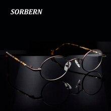 Маленькие круглые очки в стиле ретро, мужские винтажные металлические оправы для очков, классические овальные оправы для очков L в уличном стиле для женщин
