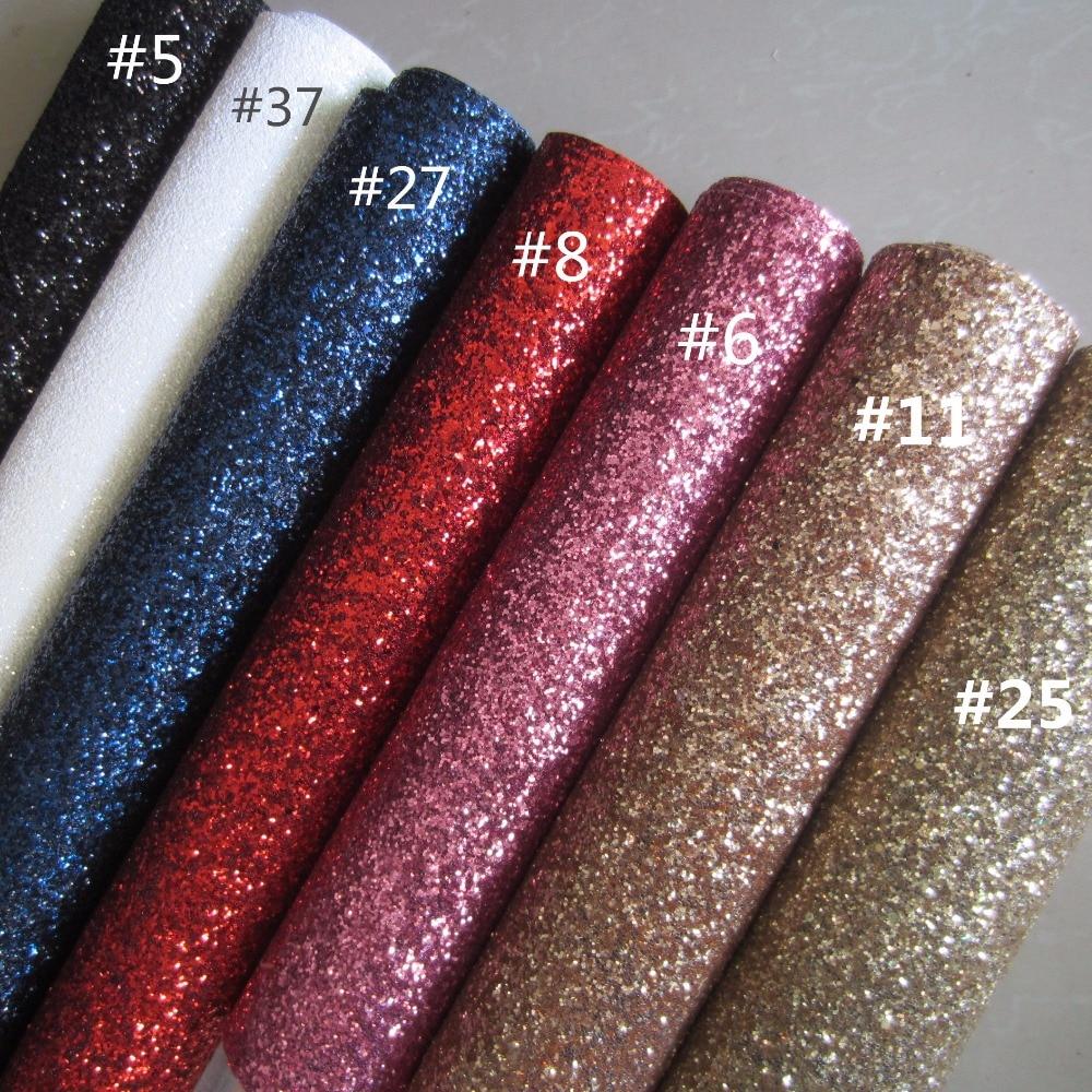 30cmx134cm Chunky Glitter Fabric Leather Glitter Synthetic Leather Fabric Glitter Diy Fabric AY071 T038