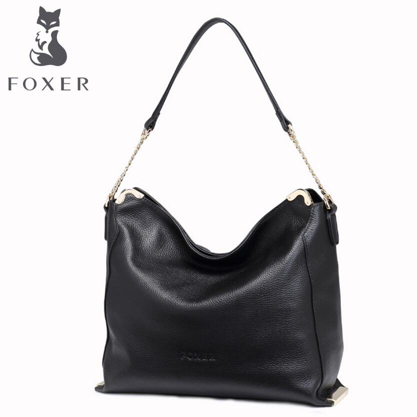 free delivery Cow leather handbag  FOXER / new shoulder Messenger bag Simple wild handbag European and American fashion Tote foxer women bag 2016 new cow leather handbag fashion long wallet banquet hand bag
