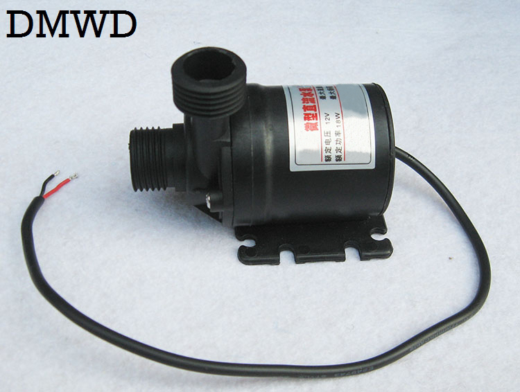 DMWD DC 12V 4 points WATER Circulation Pump Brushless Motor MINI land Submersible waterpump Ultra-quiet Waterproof 18W 8L/Min mini water pump zx43a 1248 plumbing mattresses high temperature resistant silent brushless dc circulating water pump 12v 14 4w