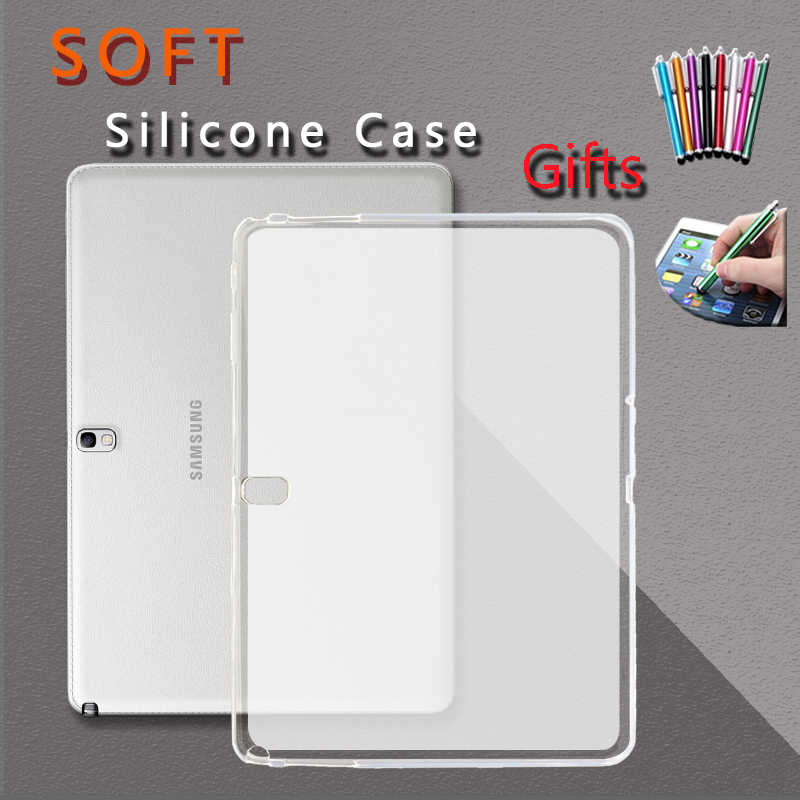 Soft Case untuk Samsung Galaxy Tab A 8.0 9.7 With S Pen 2019 SM-T550 T380 T350 T387 P200 P205 Cover lembut Silicone TPU Tablet
