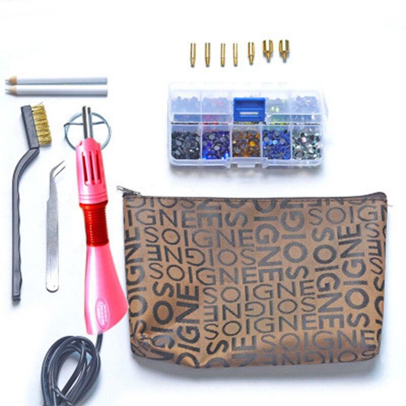 Useful Functional Rhinestone Setter Hot Fix Stud Applicator Wand Heater Tool Kit Set For Clothes Garment Crystal Stone DIY Gun