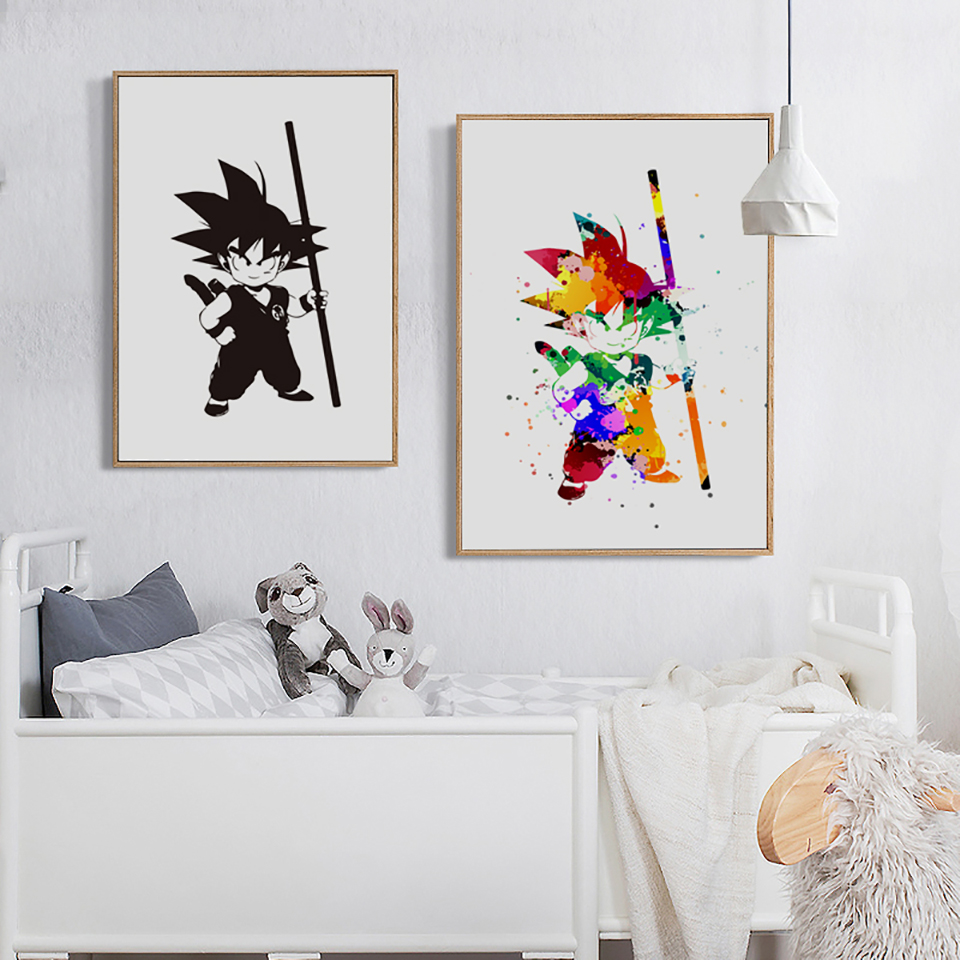 Dragon Ball Goku Posters Simple Nordic Style Prints Canvas Painting Wall Art Cartoon Picture Boys Kids Room Home Decoration Buy At The Price Of 1 72 In Aliexpress Com Imall Com