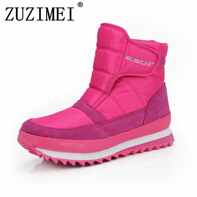 0247f9c3429 Snow Boots 2018 Brand Women Winter Boots Female Shoes Waterproof Flexible  Lady Fashion Casual Boots Plus