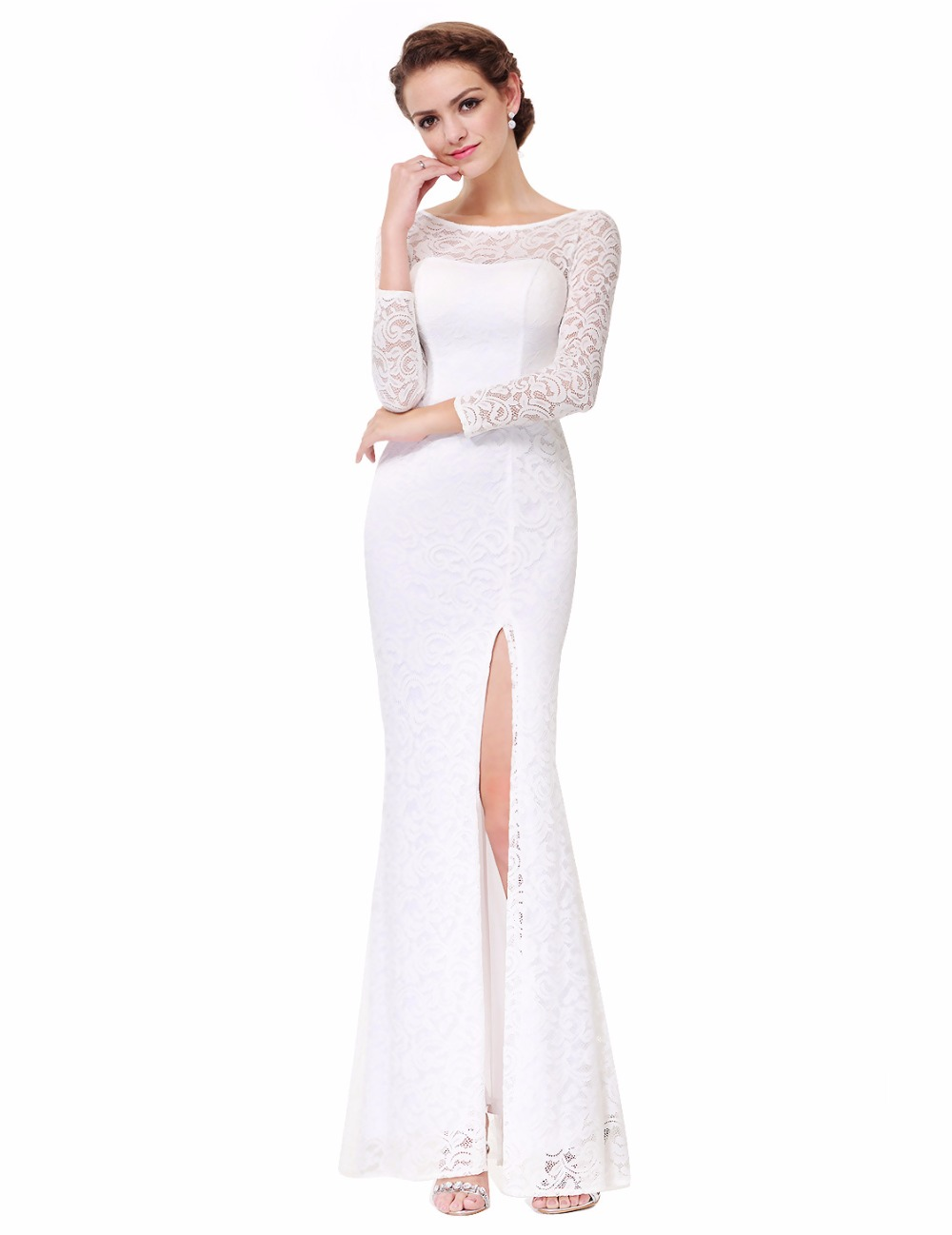 Side Slit Prom Dresses Long Ever-Pretty 2018 New Arrival Women Amazing XX38880PEC Mermaid Side Slit Party Dresses