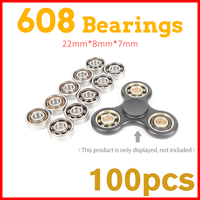 100Pcs 608 Bearing For Led Light Batman Stress Whee LEDC Hand Tri Spinner Fidget Spinners Lot