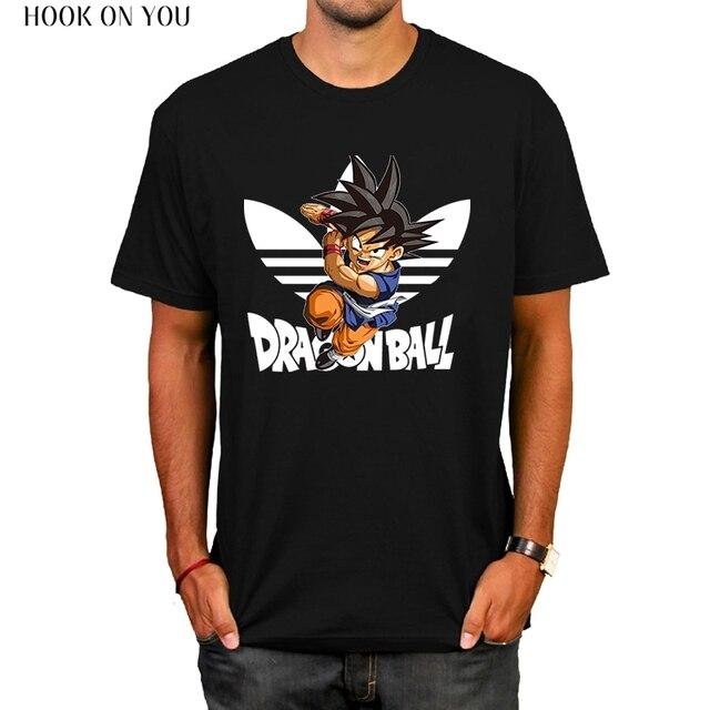 c0223b8f Dragon Ball T Shirt Men Summer Dragon Ball Z super son goku Slim Fit  Cosplay brand T-Shirts vegeta Tshirt Homme