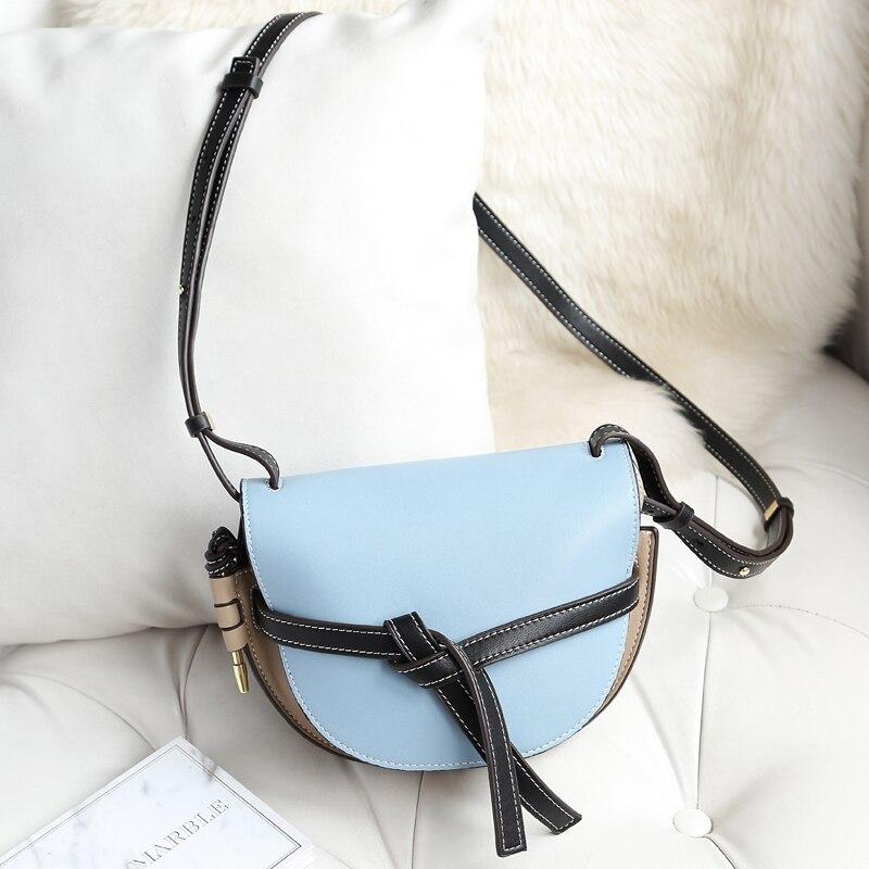 Luxury Handbags Women Bag Designer Leather Saddle Bag Fake Designer Shoulder Bag 2018 Design D Buckle Messenger louis bag l v* стоимость