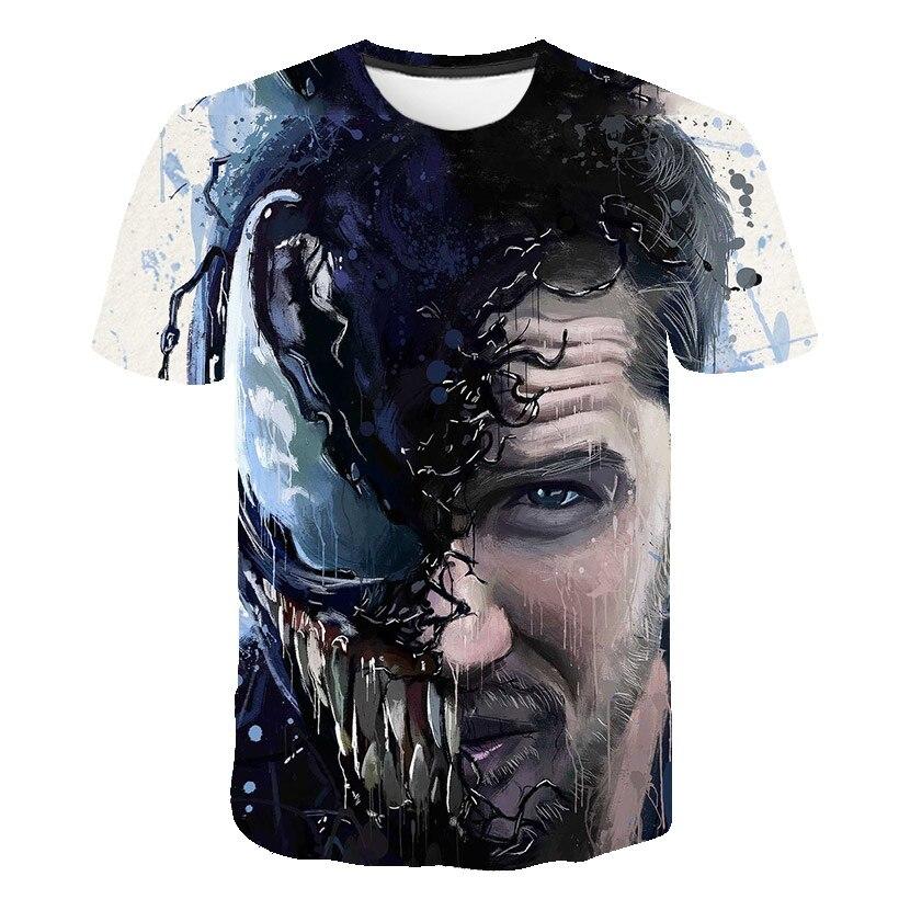 Новейшая футболка Веном с 3D принтом, футболка s для мужчин и женщин, Повседневная футболка с коротким рукавом для фитнеса, футболка Дэдпул, футболки с черепом, топы азиатского размера - Цвет: 1576