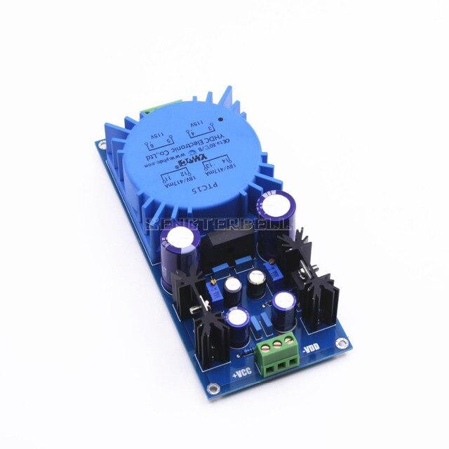 Monte LM317 LM337 Trafo Çıkışı Ayarlanabilir Voltaj Regülatörü Preamplifikatör Güç Kaynağı Kurulu ses amplifikatörü