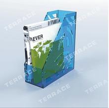 (2 ШТ./ЛОТ) Вертикальная акриловый Держатель Файл, туманный Lucite брошюра magzine держатель A4 размер