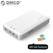 ORICO 2.5 inch Wifi HDD Enclosure Private HDD Cloud Storage Support SD/TF Card Offline Backup 8000 mAh Power Bank USB3.1 Gen1/2(China)