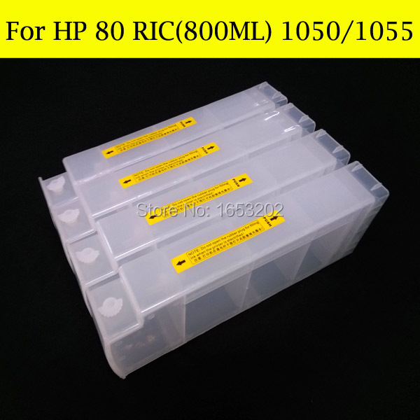 1 Set HP80 Ink Cartridge For HP 80 HP80XL With Chip Decoder Use For HP Designjet 1050 1055 Printer Plotter for hp designjet 1050 1055 1050ps printer chip decoder for hp 80 ink cartridge