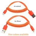 Nueva flexible cable micro usb cable de carga rápida usb cargador de teléfono móvil para samsung htc lg android para iphone 5 5s 6 6 s plus