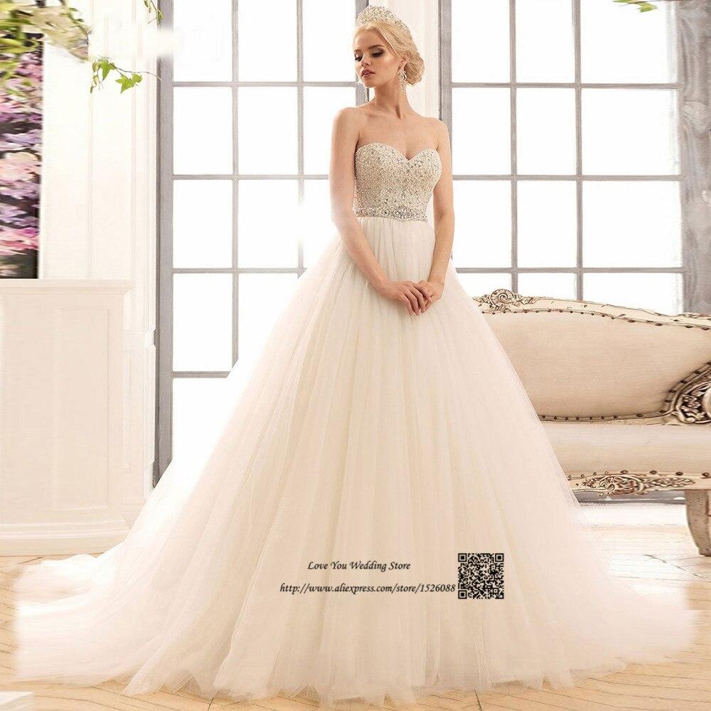 Rhinestones Vintage Wedding Dress 2017 Princess Bride