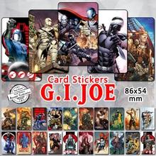 35pcs Gi Joe Series Card Stickers Classic 80s Cartoon Characters Cobra Commander Duke Snake Eyes Baroness