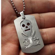 Ожерелье мужское из нержавеющей стали с логотипом пирата и черепа