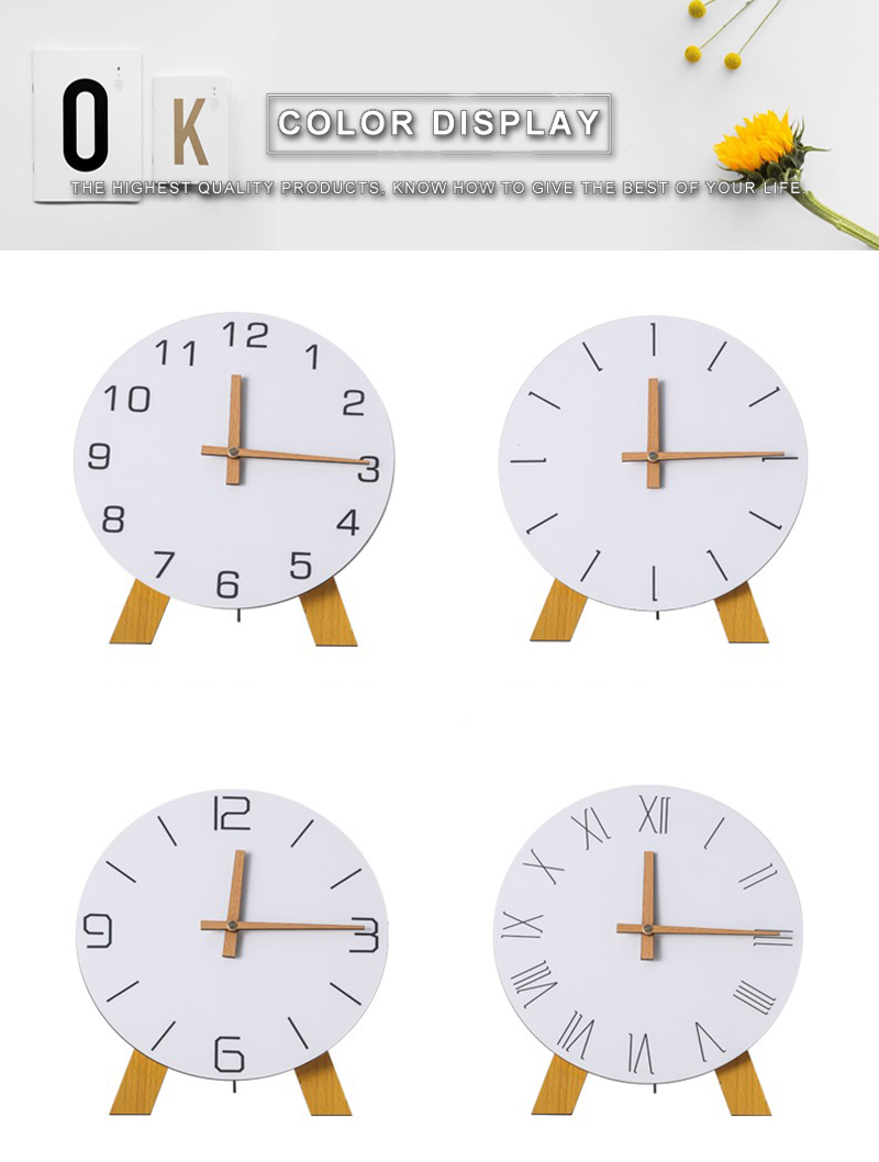 study clock watch office office table decoration flip calendar bamboo clock desk clock circular electronic desktop clock dementia clock (4)