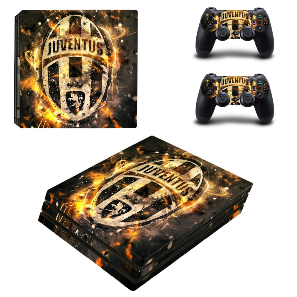 Juventus Football PS4 Pro Skin Sticker For PlayStation 4 Pro Console and Controllers PS4 Pro Skins Stickers Decal Vinyl