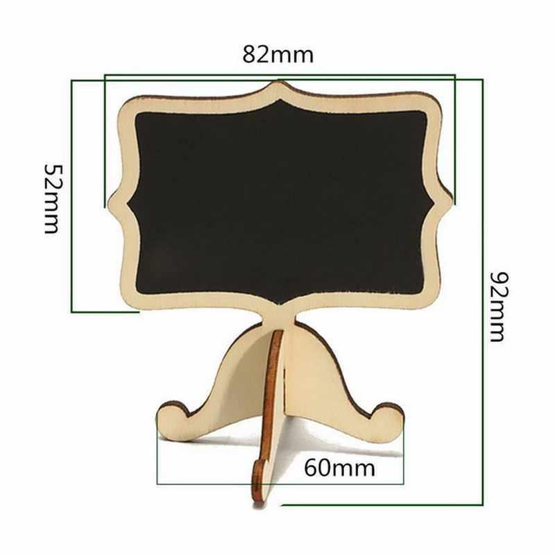 10 шт мини деревянной доске деревянный стол со школьной доской сообщение номер тега держатель карточки с именем гостя дома украшение для свадьбы VBT59 P50